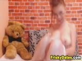 Busty Redhead Cutie Toying her Tight Pussy