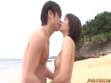 Sweet Saya pleases younger male with sex