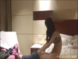 Horny Chinese girl Mandy tested by various toys and cock