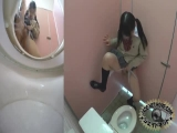 School girl's toilet overflowing with piss
