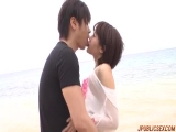 Sex at the beach along naughty Saya