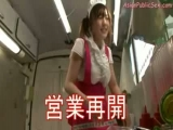 Asian Girl Fucked While Serving Food in Public