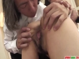 Asian nun, Hitomi Kanou, fucked and creamed by two males