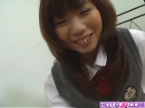 Sexy babe Misa Kurita is all smiles before she gets a pleasurable penetration