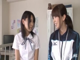 Busty Hermaphrodite P.E. Teacher With a Huge Cock Covers His Naive Student in Dick Juice 2 part 1
