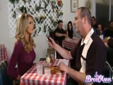 Bree Olson - getting fucked right in a restaurant