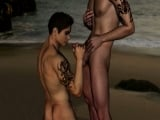 Gay sex on the beach 3D