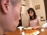 Asian MILF sucking cock