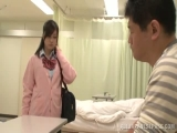 Naughty Japanese schoolgirl fucks mature guy in a toilet